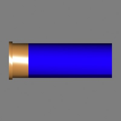 shotgun shell Ver12[ammo][low polygon][blue][max].zip